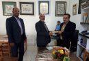 دیدار شهردار و عضو محترم شورای شهر با رئیس انجمن خوشنویسان شهرستان مه ولات