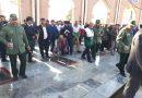 مراسم غبار روبی و عطر افشانی مزار شهدا به مناسبت دهه مبارک فجر برگزار شد