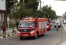رژه خودروهای آتش نشانی در فیض آباد انجام شد