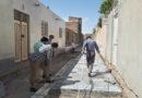 گزارش تصویری آغاز عملیات کف سازی و موزائیک فرش خیابان های فرعی حجت شمالی و بلوار مدرس